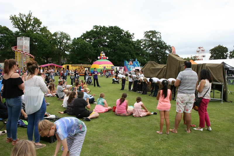 The Urban Playground Team at Party in the Park 2016 with Rotate taking a bow